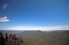 Tre rocce famose delle sorelle in montagna blu Sydney Australia Fotografia Stock