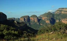 Tre Rondavels in Mpumalanga Fotografia Stock