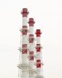 Tre rossi e tubi bianchi Immagini Stock