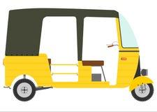 Tre rullad motorisk rickshaw. stock illustrationer