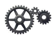 Tre ruote dentate illustrazione vettoriale