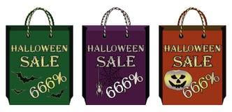 Tre sacchetti di acquisto di Halloween Fotografia Stock Libera da Diritti