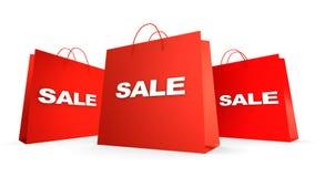 Tre sacchetti di vendita Fotografie Stock Libere da Diritti