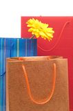 Tre sacchi di carta Immagini Stock Libere da Diritti