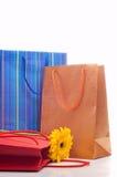 Tre sacchi di carta Fotografia Stock