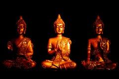 Tre satues av Buddha Royaltyfria Foton