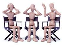 Tre scimmie saggie (concetto) Immagine Stock