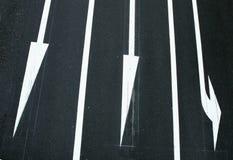 Tre sensi di traffico Fotografie Stock