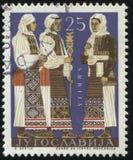 Tre serbiska kvinnor Royaltyfri Foto