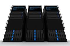 Tre serveror Arkivbild