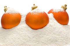 Tre sfere arancioni fotografia stock libera da diritti