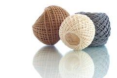 Tre sfere della corda Immagini Stock