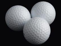 Tre sfere di golf immagine stock libera da diritti