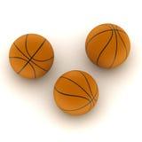 Tre sfere di sport isolate Immagine Stock
