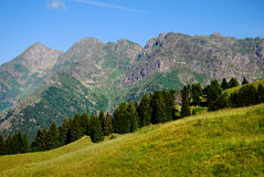 Tre signori mount. The signori mount, in the plateau of avaro, brembana valley Royalty Free Stock Photo