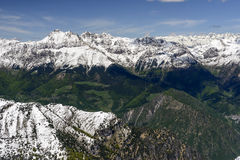 Tre Signori range from south,  Orobie, Italy Royalty Free Stock Photography