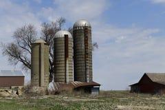 Tre silos Fotografia Stock Libera da Diritti
