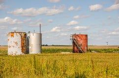 Tre silos Fotografia Stock