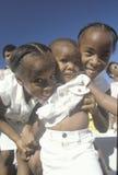 Tre sorelle afroamericane, watt, Los Angeles, CA fotografia stock libera da diritti