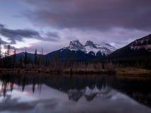 Tre sorelle, Canmore Alberta Fotografia Stock
