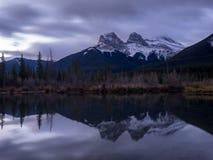Tre sorelle, Canmore Alberta Fotografie Stock