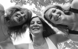 Tre sorelle felici 1 Fotografie Stock