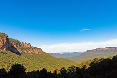 Tre sorelle formazione rocciosa nelle montagne blu parco nazionale, Australia Immagini Stock Libere da Diritti