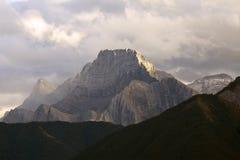 Tre sorelle montagna, Canmore, Alberta Fotografia Stock Libera da Diritti