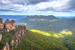Tre sorelle in montagne blu, Australia Fotografia Stock Libera da Diritti