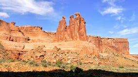Tre sorelle panorama della roccia Fotografie Stock