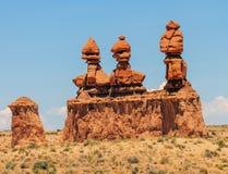 Tre sorelle parco di stato della valle del folletto Utah Fotografia Stock Libera da Diritti