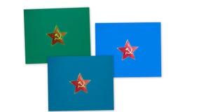 Tre sovjetussr stjärnor Arkivbild