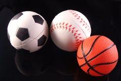 Tre sport Fotografia Stock