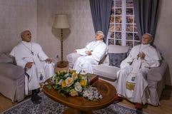 Tre statue di papi Fotografia Stock Libera da Diritti