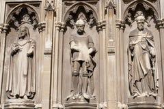Tre statue nella cattedrale di Canterbury Fotografia Stock Libera da Diritti