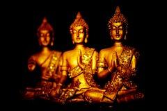 Tre statyer av Buddha Royaltyfri Fotografi