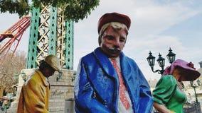 Tre statyer i Wien Prater parkerar royaltyfria bilder