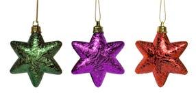 Tre stelle colorate Fotografia Stock Libera da Diritti