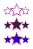 Tre stelle rosa dell'oro Fotografie Stock