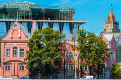 Tre stili architettonici Fotografie Stock Libere da Diritti