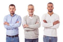 Tre stiliga affärsmän royaltyfria foton