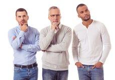 Tre stiliga affärsmän arkivfoton