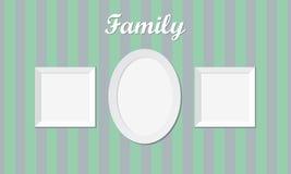Tre strutture d'annata della foto di famiglia Fotografie Stock Libere da Diritti