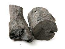 Tre stycken av kol royaltyfri foto