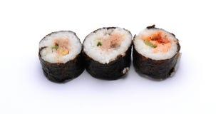 Tre sushi Fotografia Stock Libera da Diritti