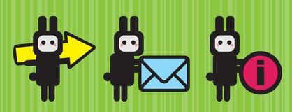 Tre symboler för din website. Arkivfoto