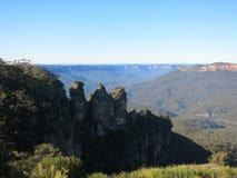 Tre systrar slösar berg Sydney NSW Arkivfoto