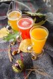 Tre tè caldi della frutta immagini stock