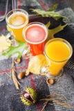 Tre tè caldi della frutta fotografie stock