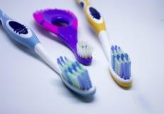 tre tandborstar Royaltyfri Bild
